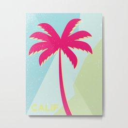 California Palm Metal Print