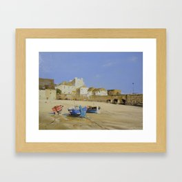 Beached Boats Framed Art Print
