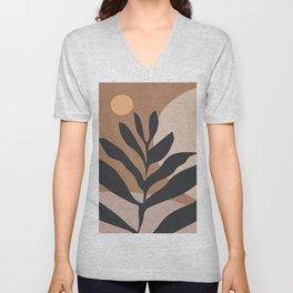 Tropical Leaf- Abstract Art 2 Unisex V-Neck