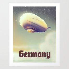 Germany Blimp vacation poster Art Print