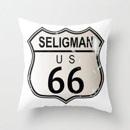 Seligman Route 66 Throw Pillow