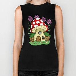 Toadstool Fairy House Biker Tank