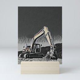 Wheel Tractor-scraper Whiteboard Child Draw Robotic Arm Mini Art Print