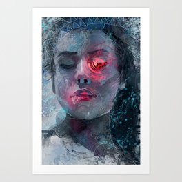 portrait in the dark Art Print