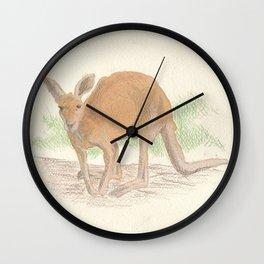 Kangaroo. Wall Clock