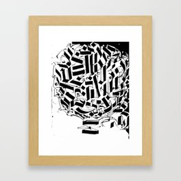 CALLIGRAPHY N°2 ZV Framed Art Print
