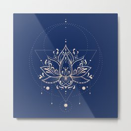 Lotus Dark Metal Print