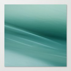 Fantasy Space Lines 1 Turquoise Canvas Print