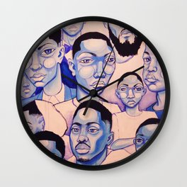 Black Boy Blues Wall Clock