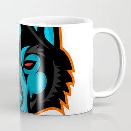 Timber Wolf Head Sports Mascot Coffee Mug