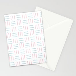Modern hand painted blush pink teal brushstokes pattern Stationery Cards