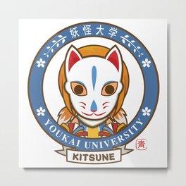 Yokai Daigakku - KITSUNE Metal Print