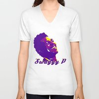 lakers V-neck T-shirts featuring Swaggy by SUNNY Design