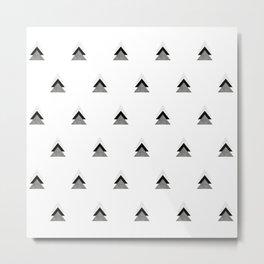 Arrows Collages Monochrome Pattern Metal Print