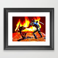 Eva-00 vs Eva-02 photoshoot Framed Art Print