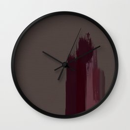 """Cherry / Rose Gold Porstroke (Pattern)"" Wall Clock"
