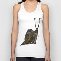greg guillemin Tank Tops featuring Snail Abstract by Greg Phillips by SquirrelSix