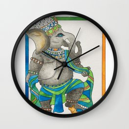 Ganesha dancing Wall Clock