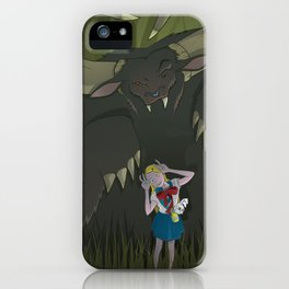 Monster girl in Horrorcolor iPhone Case