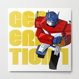 G1 Optimus & Basketball Metal Print