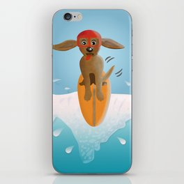 Surf Dog on Top of the Wave iPhone Skin