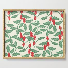 Coffee Plant Pattern Serving Tray