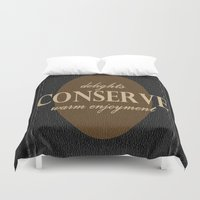"leather Duvet Covers featuring LeAtHer COnSeRvE by ""CVogiatzi."