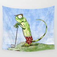 golf Wall Tapestries featuring Golf Pants by Plane Yogurt