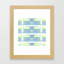 Geometric Background with Client's Logo  Framed Art Print