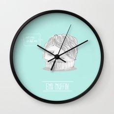 emo muffin Wall Clock