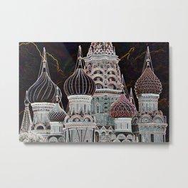 Domes Of St. Basil - Art Metal Print