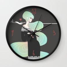 Love in Black Wall Clock