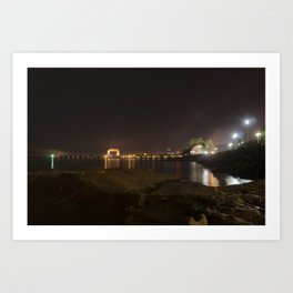 Nightscape of Canal Park Art Print