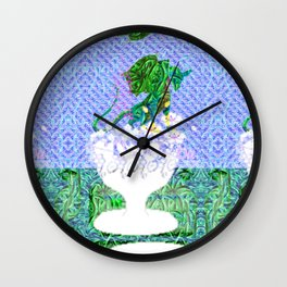 Tropical Dragon Garden  Wall Clock