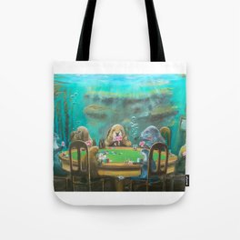 Pinnipeds Playing Poker Tote Bag
