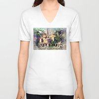 rome V-neck T-shirts featuring Rome architecture by jbjart
