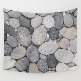 Smooth Grey Pebble Minimalistic Zen  Wall Tapestry