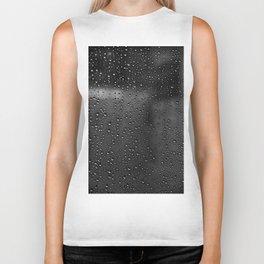 Black and White Rain Drops; Abstract Biker Tank
