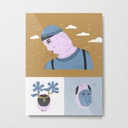 traurig Metal Print