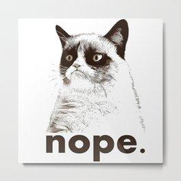 Grumpys Cat Metal Print