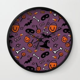 Halloween Treats Wall Clock