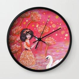 The Swan Girl Wall Clock