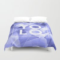 yolo Duvet Covers featuring Dreams of YOLO Vol.3 by HappyMelvin