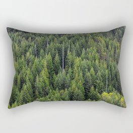 Wall of Trees Rectangular Pillow