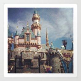 Sleeping Beauty's Castle Art Print