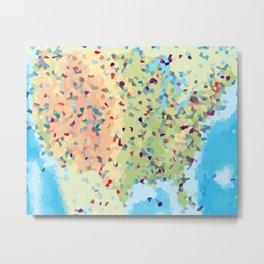 USA America Geometric Abstract Metal Print