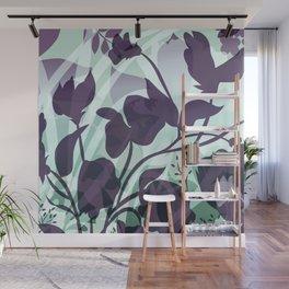 Sassy Sedge - cool colors Wall Mural