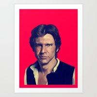han solo Art Prints featuring Han Solo  by Jemma Klein