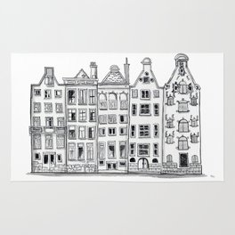 Amsterdam Canal Houses Sketch Rug
