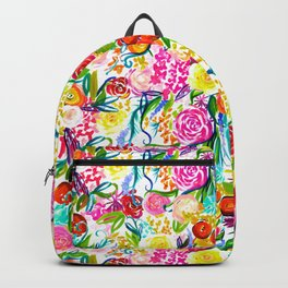 Neon Summer Floral (Smaller Print size) Backpack